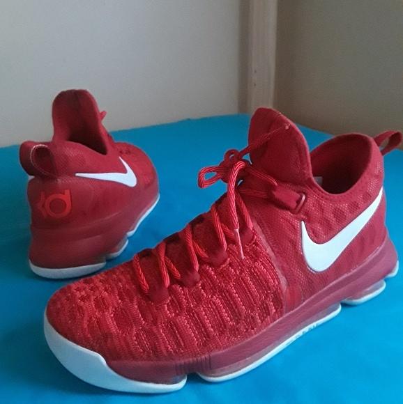 Men s Nike Air Zoom Kd 9 Red White Size 10. M 5c19a9faaaa5b84db1a1a649 342273cb6
